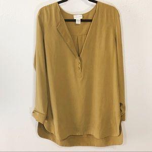 Soft Surroundings 100% silk tunic top size L